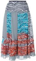 Diane von Furstenberg 'New Wave' pattern skirt