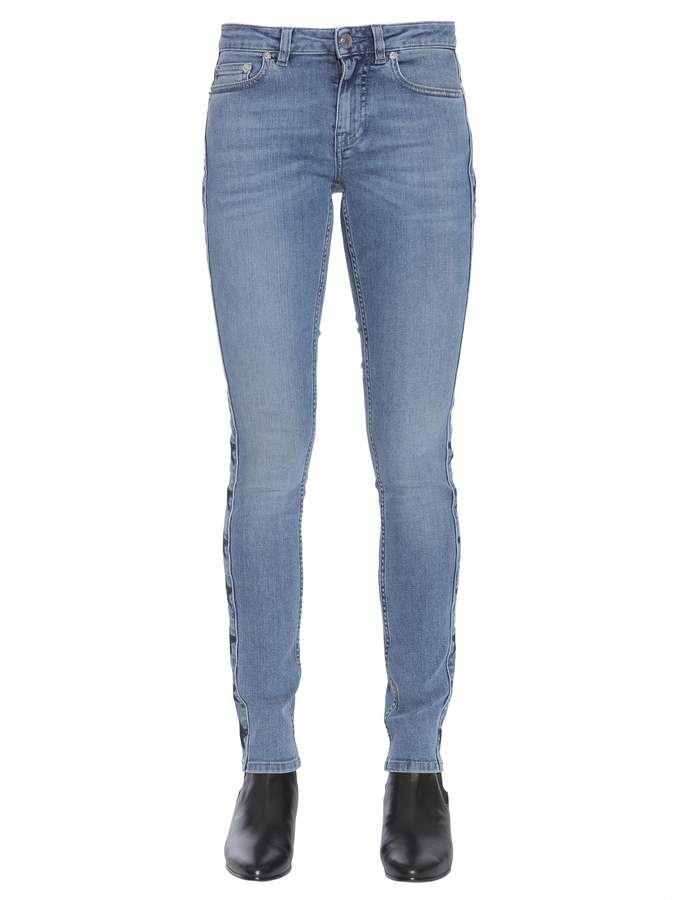 Givenchy Jeans With Side Star Band