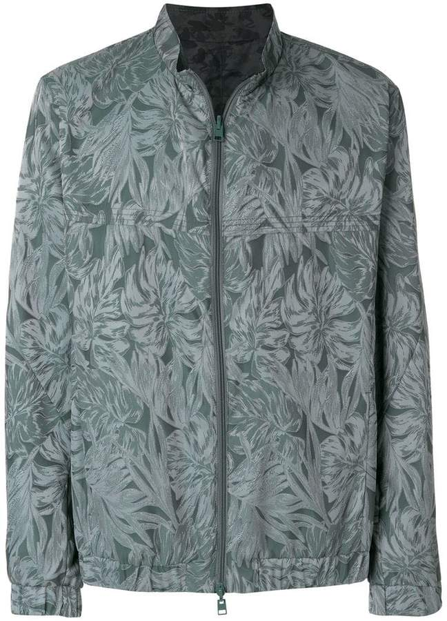 Etro tone-on-tone leaf print jacket
