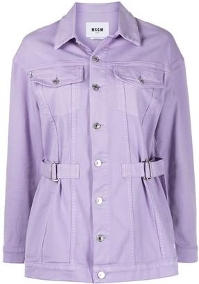 MSGM Belted Denim Jacket