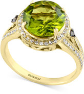 Effy OLIVIA by Peridot (3-5/8 ct. t.w.) and Diamond (1/4 ct. t.w.) Ring in 14k Gold