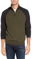 Tailor Vintage Men's Raglan Quarter Zip Sweater