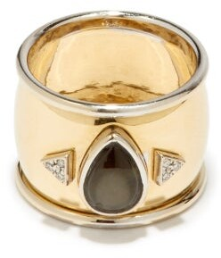 Mukhi Sisters - Black Star Diamond & 18kt Gold Ring - Yellow Gold