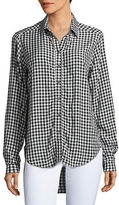 Velvet by Graham & Spencer Checked Long-Sleeve Casual Button-Down Shirt