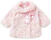 Edgehill Collection Baby Girls 3-24 Months Faux-Fur Jacket