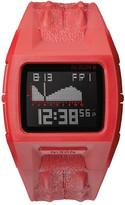 Nixon Men&s Lodown II Croc Embossed Silicone Digital Watch