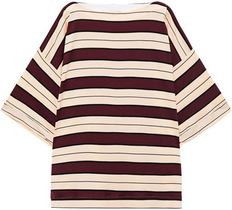 Marni Striped Cotton-jersey Top