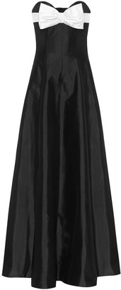 Rasario Off-shoulder silk gown