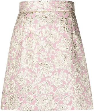 Dolce & Gabbana Metallic Finish Jacquard Skirt