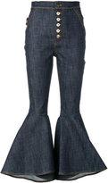 Ellery flared high-waisted jeans - women - Cotton/Spandex/Elastane - 25