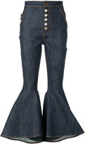 Ellery flared high-waisted jeans