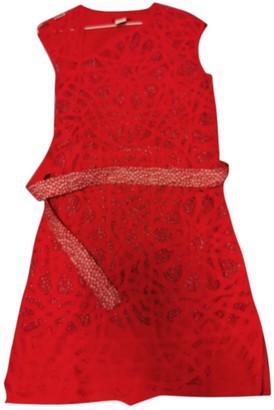 Vivienne Tam Red Linen Dress for Women