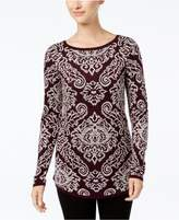 Charter Club Jacquard Sweater, Created for Macy's