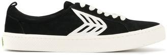 Cariuma CATIBA Low Cloud Grey Suede Ivory Logo Sneaker