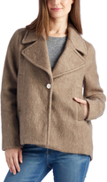 Laundry by Shelli Segal Taupe Single-Button Wool-Blend Jacket