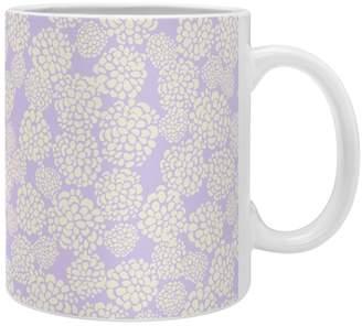 Deny Designs Joy Laforme Dahlias In Periwinkle Coffee Mug