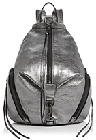 Rebecca Minkoff Julian Metallic Medium Leather Backpack