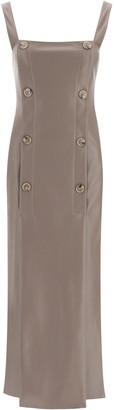 Nanushka Allie Dress In Faux Leather