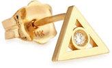 Sydney Evan Jewelry 14K Gold Diamond Triangle Stud Earring