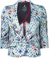 Loveless - printed blazer - women - Cotton/Polyurethane - 34