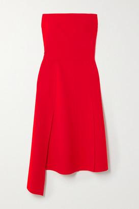 A.W.A.K.E. Mode Strapless Asymmetric Cady Dress - Red