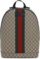 Gucci Gg Supreme Logo Backpack W/ Web Detail