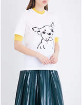Markus Lupfer Hand drawn Frenchie cotton-jersey T-shirt