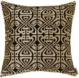 Biba Black velvet design cushion