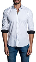Jared Lang Contrast Cotton Sportshirt
