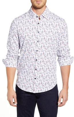Stone Rose Regular Fit Button-Up Performance Sport Shirt
