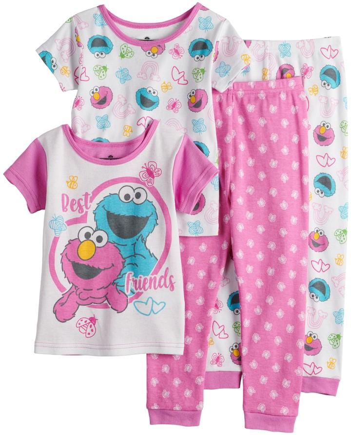 Sesame Street Little Girls Toddler Elmo Plush Robe