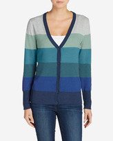 Eddie Bauer Women's Christine V-Neck Cardigan Sweater - Stripe