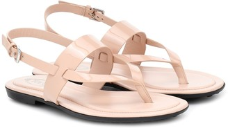 Tod's Patent-leather thong sandals
