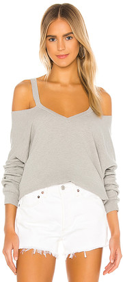 Michael Lauren Swanson Long Sleeve Cutout V Neck Pullover