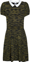 Collared knitted dress