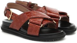 Marni Fussbett croc-effect leather sandals