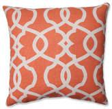 "Pillow Perfect, Inc. Lattice Damask Blue 16.5"" Throw Pillow, Tangerine"
