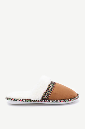 Ardene Aztec Slide Slippers