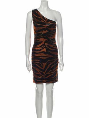 Balmain Animal Print Mini Dress Black