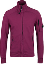 Cp Company Cranberry Zip Through Watch Viewer Sweatshirt