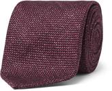 Drake's - 8cm Slub Wool, Silk And Linen-blend Tie
