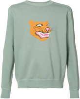 MHI embroidered tiger sweatshirt - men - Cotton - S