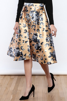 Flying Tomato Champagne Floral Skirt
