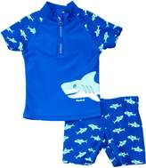 Playshoes Boy's UV Sun Protection Shark Collection Two Piece Swimsuit