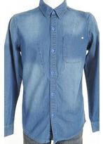 Humör Bauer Denim Shirt Dark Blue