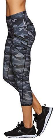 RBX Active Women's Camo Camo Printed Capri Yoga Leggings Black XS