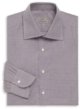 Canali Tattersall Cotton Long Sleeve Shirt