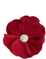 Natasha Accessories Rhinestone Flower Pin Clip