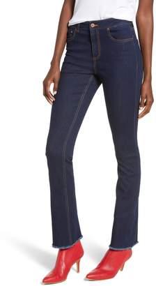 Tinsel Frayed Flare Leg Jeans