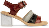 MM6 MAISON MARGIELA Glossed-Leather Sandals